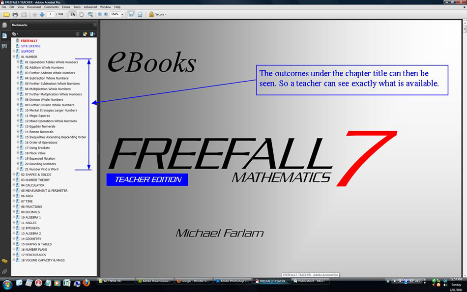 Freefall Mathematics - Mathematics ebooks