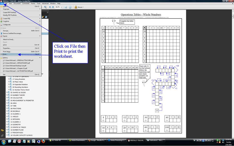 Freefall Mathematics Mathematics Ebooks